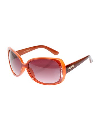 Cranberry & Orange Oval Sunglasses
