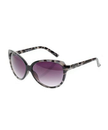 Black & Gray Cat-Eye Sunglasses