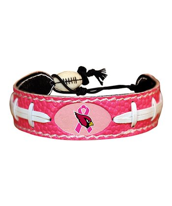 Pink Arizona Cardinals Breast Cancer Awareness Bracelet - Women