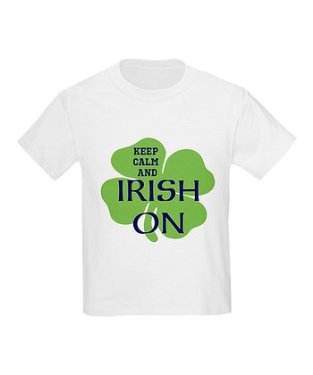 White 'Keep Calm & Irish On' Tee - Toddler & Kids