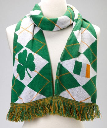 Green Argyle Reversible Scarf