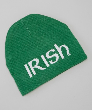 Green 'Irish' Jacquard Knit Hat