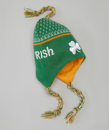 Green & White 'Irish' Toboggan Hat