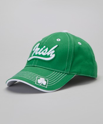 Green Irish Script Appliqué Cap