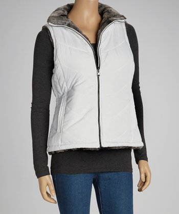 White Reversible Puffer  - Women