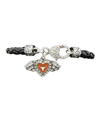 Texas Longhorns Winged Heart Bracelet - Women