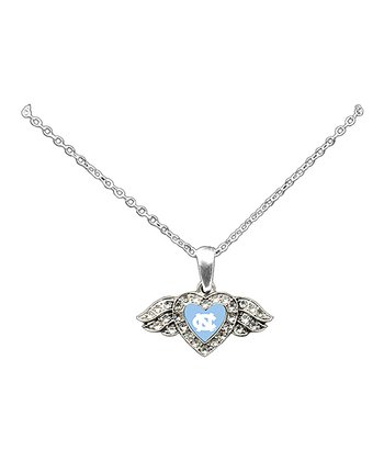 North Carolina Tar Heels Winged Heart Pendant Necklace - Women