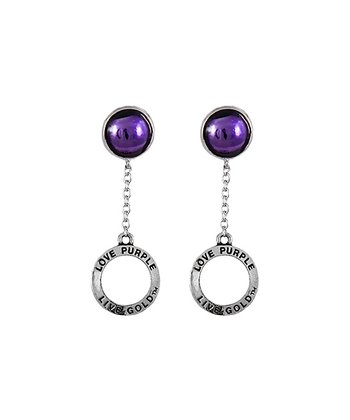 LSU Tigers Circle Drop Earrings