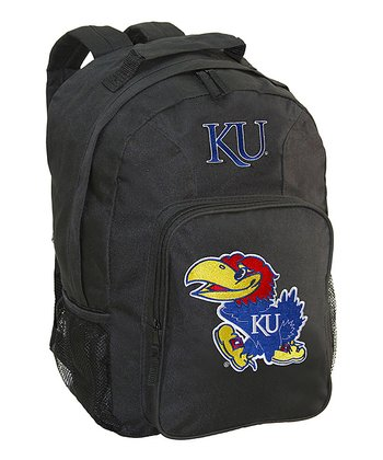Kansas Jayhawks Black Southpaw Backpack