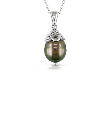 Black Tahitian Pearl Pendant Necklace