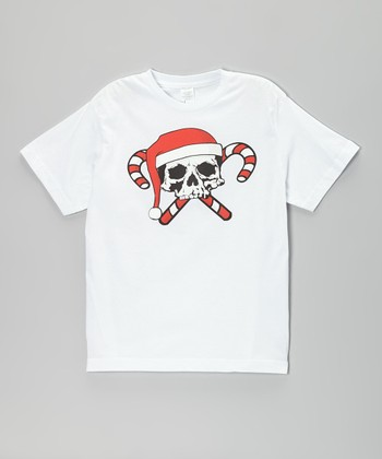 White Holiday Skull Tee - Infant, Toddler & Boys