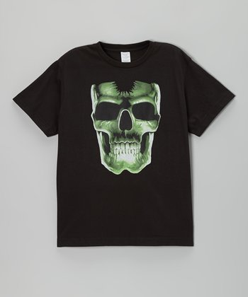 Black Glow-in-the-Dark Skull Tee - Toddler & Boys