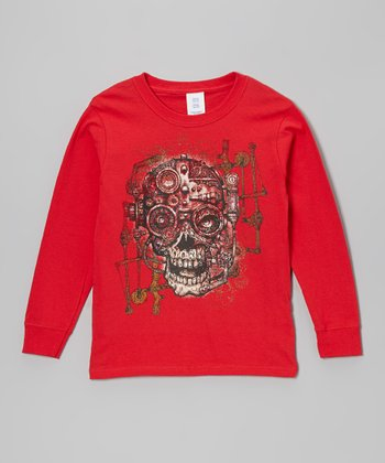 Red Gear Skull Tee - Toddler & Boys