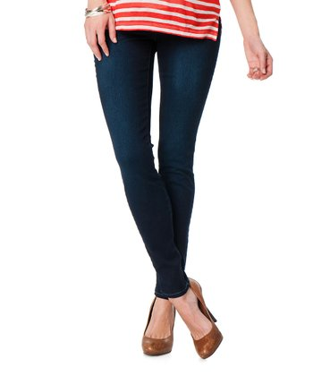 Indigo Side Panel Maternity Skinny Jeans