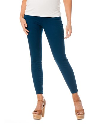 Blue Secret Fit Belly® Twill Maternity Skinny Pants