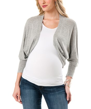 Gray Dolman Maternity Shrug