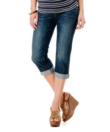 Mavi Indigo Secret Fit Belly® Alma Maternity Capri Jeans