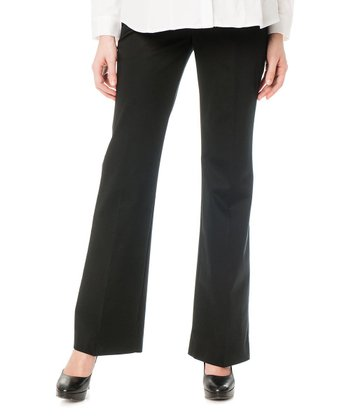 Black Secret Fit Belly® Twill Maternity Trousers