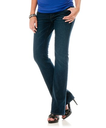 Indigo Secret Fit Belly® Petite Maternity Bootcut Jeans