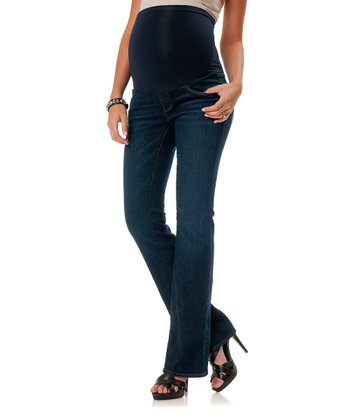 Indigo Secret Fit Belly® Long Maternity Bootcut Jeans