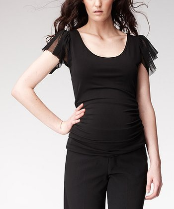 Black Frill Emily Maternity Top