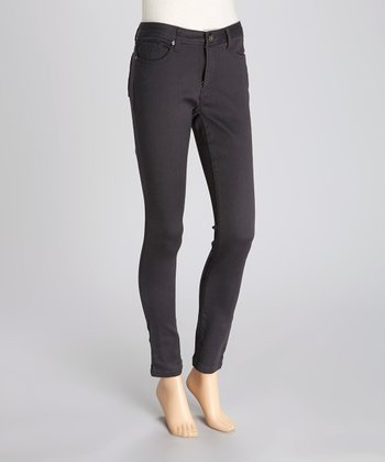Gray Sateen Jeggings