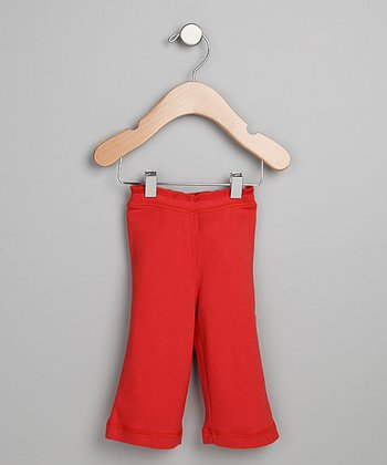 Urban Munchkin Moroccan Red Organic Yoga Pants - Infant