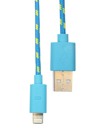 Blue Nylon Charge & Sync Cable for iPhone 5