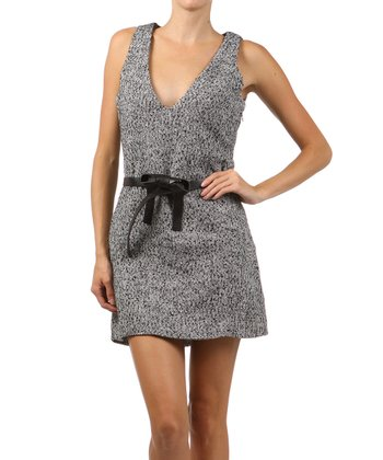 Gray Heathered Sleeveless Dress