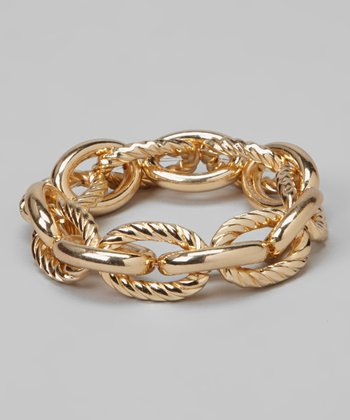 Gold Rope Chain-Link Bracelet