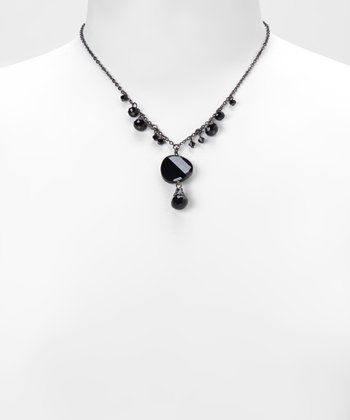 Black Beaded Necklace