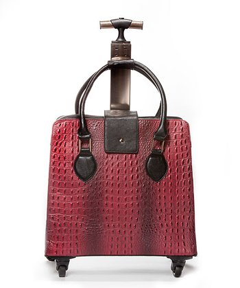 Red & Black Crocodile 18'' Carry On