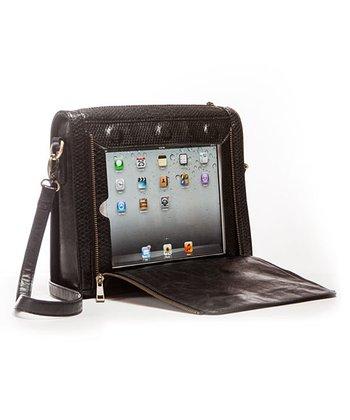 Black Crossbody Bag for iPad