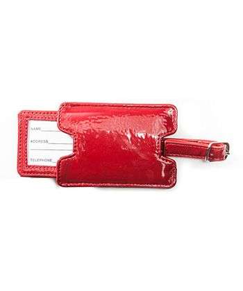 Red Jacqueline Luggage Tag