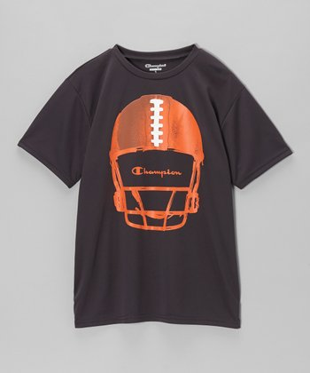 Slate Gray Football Helmet Tee