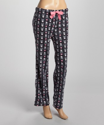 Black & Pink Meant for You Minky Pajama Pants - Women