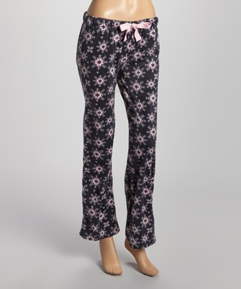 Pink & Black Meant for You Minky Pajama Pants - Women