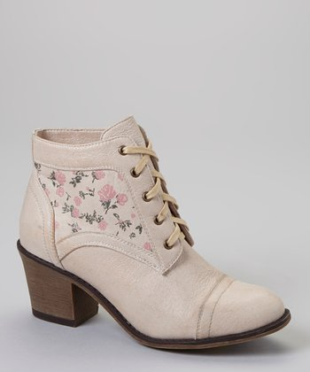 Beige Rose Leighton Ankle Boot