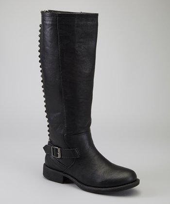 Black Pyramid Stud Alba Boot