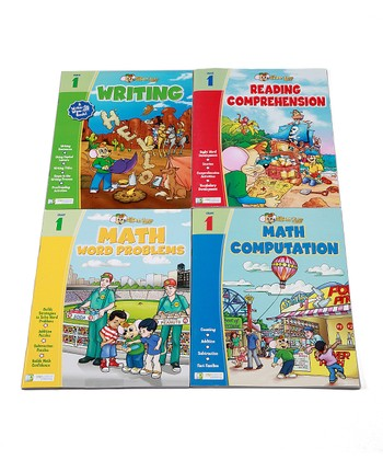 First Grade Math, Reading & Writing Workbook Set