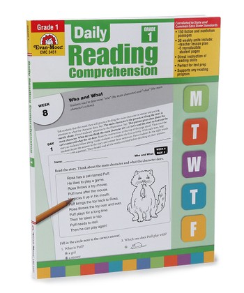 Daily Reading Comprehension Grade 1 Workbook