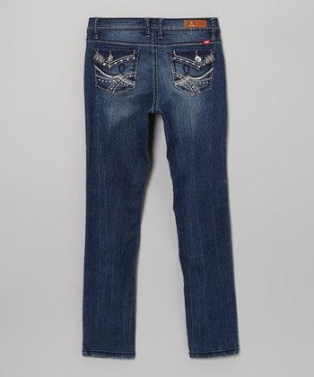 Light Wash Jewel Skinny Jeans