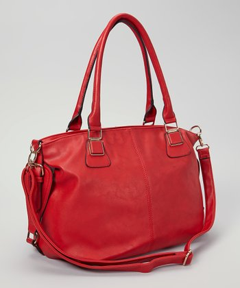 Red Belted Convertible Tote