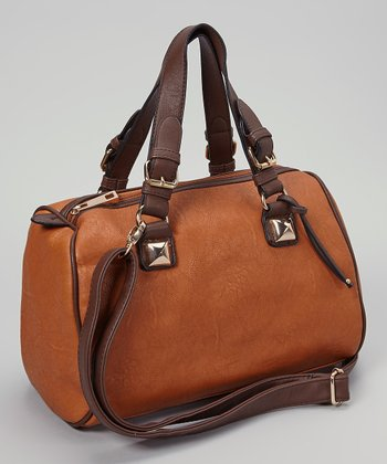 Brown Pyramid Satchel