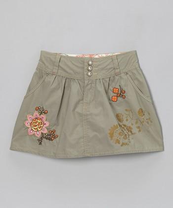 Olive Camper Skirt - Girls