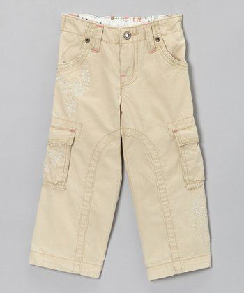 Natural Fish Food Cargo Pants - Toddler & Girls