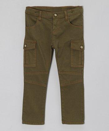 Olive Utilitarian Cargo Pants - Toddler & Girls