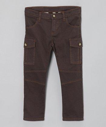Gray Utilitarian Cargo Pants - Toddler & Girls