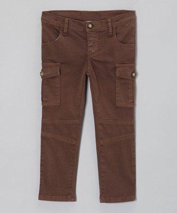 Brown Utilitarian Cargo Pants - Toddler & Girls
