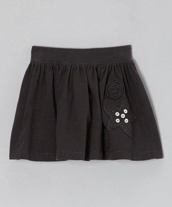Gray Rosey Knit Skirt - Toddler & Girls